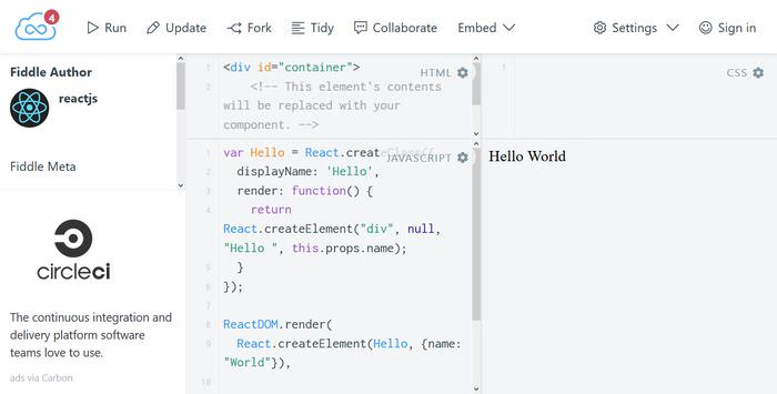 jsfiddle integration