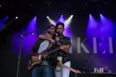 July, 23, 2016 - Oro-Medonte, Ontario, Canada: Hamilton Ontario indie rock band Arkells perform at Wayhome Music & Arts Festival (Bobby Singh/Polaris).