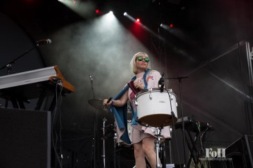 July, 24, 2016 - Oro-Medonte, Ontario, Canada: Brooklyn indie pop band Lucius perform at Wayhome Music & Arts Festival (Bobby Singh/Wayhome).