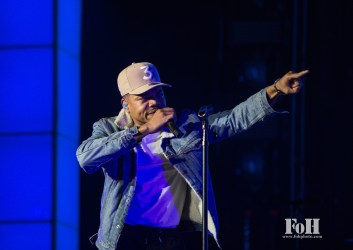 """Toronto, Canada. 30th May, 2017. Chance The Rapper performs to a sold-out crowd at The Budweiser Stage on his """"Be Encouraged"""" tour. Credit: Bobby Singh/@fohphoto"""
