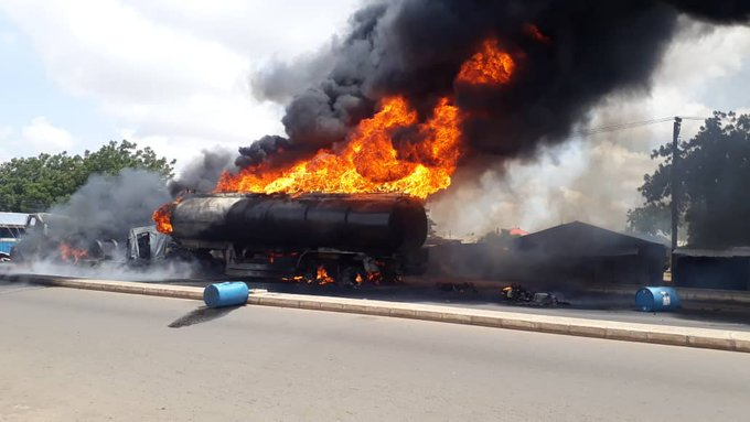 Another fuel tanker explodes on Lagos-Ibadan Expressway –FRSC