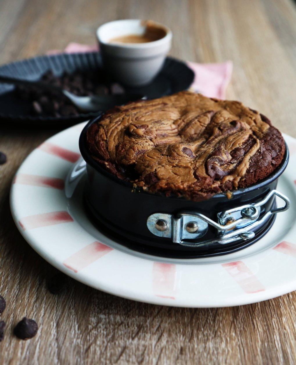 Gluten-Free & Vegan Peanut butter swirl Brownies