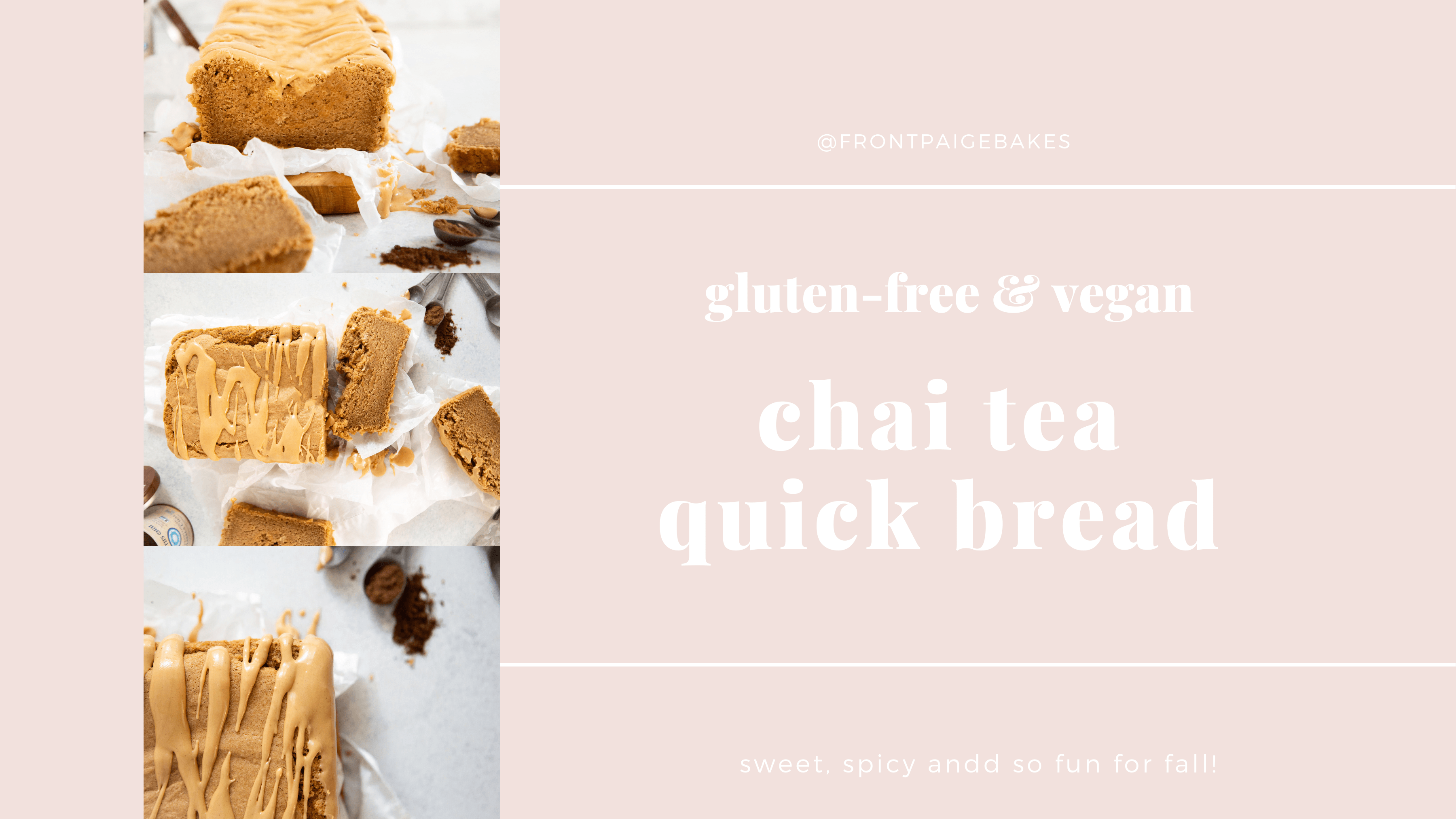 Glutetn-free and Vegan Chai Quick Bread is the perfect fall snack! Full of warm chai spices and rich flavor, this is a perfect treat for fall.