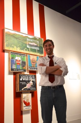 Matt with exhibit