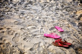 On Coronado beach in Panama in the middle of February.