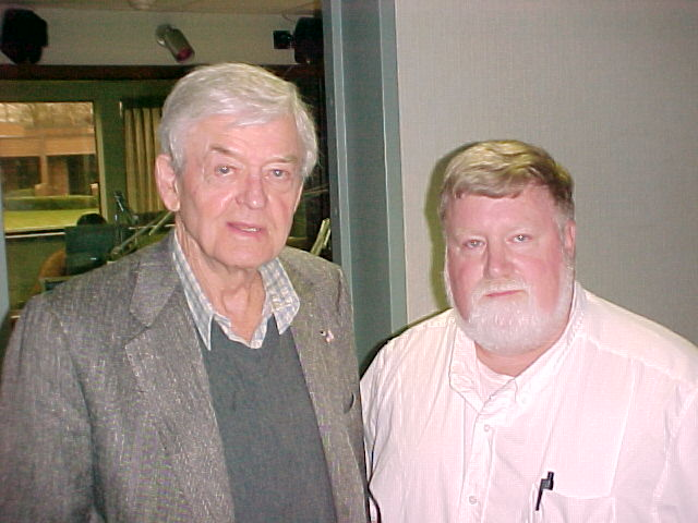 I've had a chance to meet some interesting people, some famous, like actor Hal Holbrook, shown in this 2004 photo at WOC, and some not so famous.