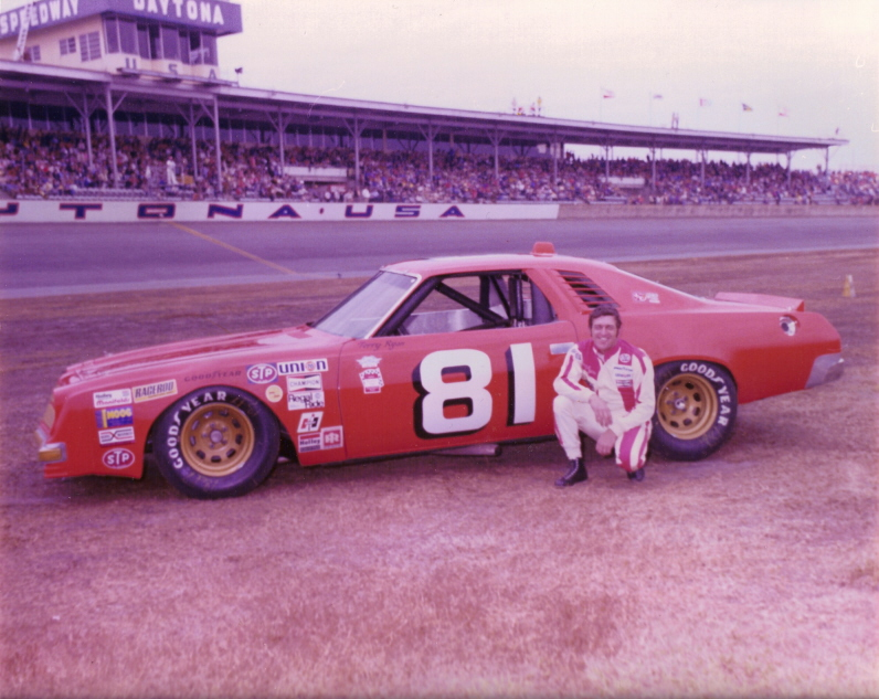 Terry Ryan at Daytona International Speedway. Photo courtesy of Doug Haack's Vintage Racing Photos.