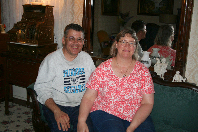 Chuck and Joy Hanson say their ghosts are happy residents who cause no harm. Photo by Phil Roberts