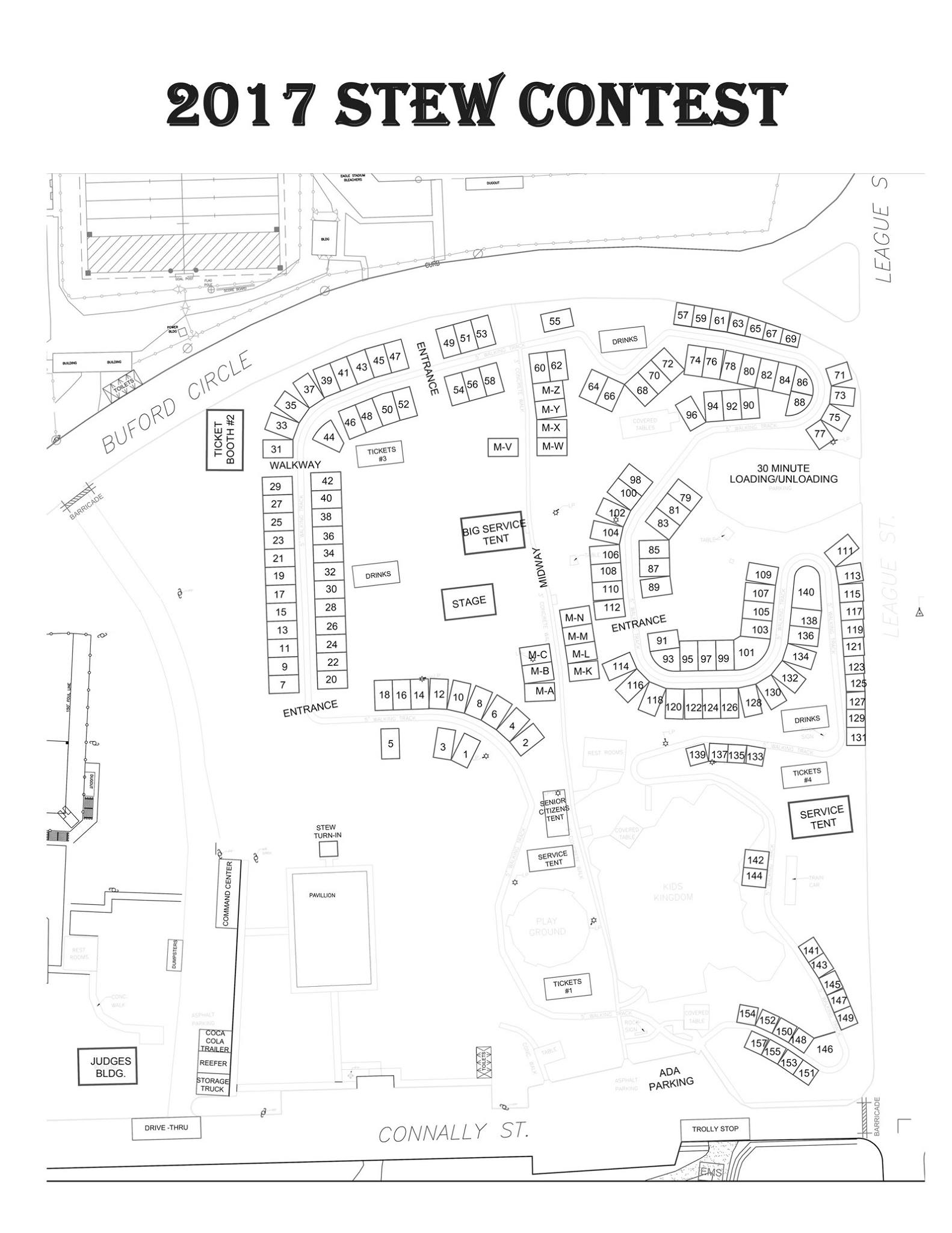 48th Annual Hopkins County Stew Contest Site Map