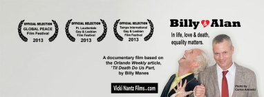 Billy and Allen Billy Manes orlando weekly global peace film festival