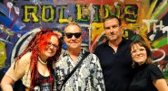 FRED SCHNEIDER of the B'52's with Meka & Ric Coven photo by Miriphoto