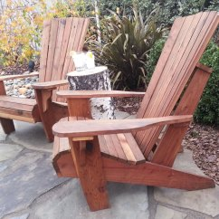Non Wood Adirondack Chairs Kitchen For Heavy People Chair Front Porch Redwood