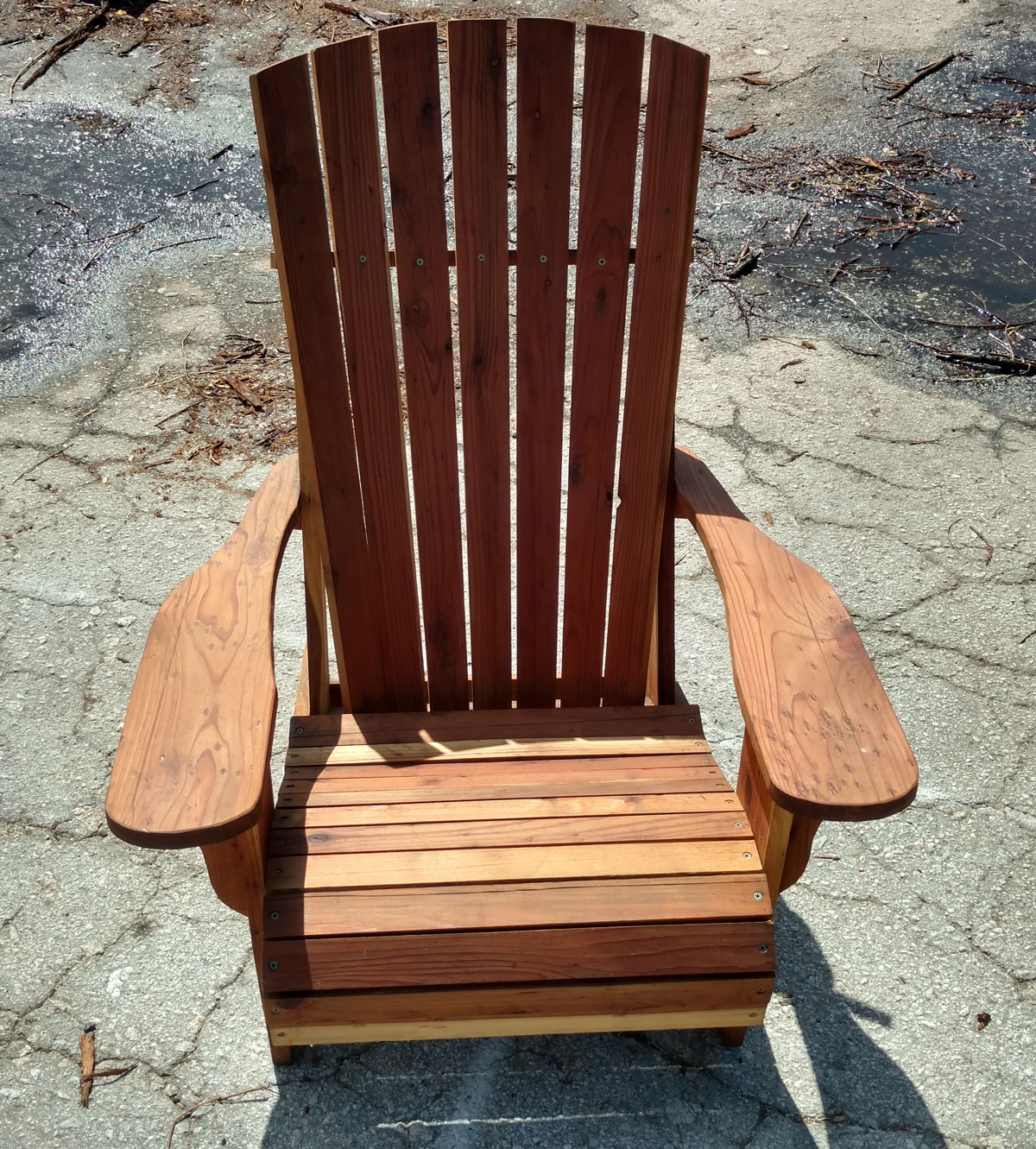 adirondack chair reviews arm covers for sale set front porch redwood