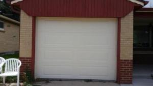 Small Non-Insulated Steel garage door