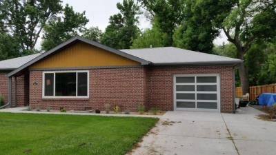 Small Modern Classic gray garage door with glass
