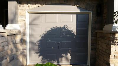 8X7 Modern Classic (before). Small Modern Classic Brown Garage Door ...