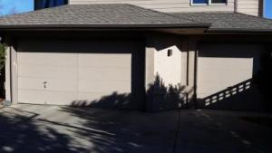 Contemporary Style Flush Garage doors