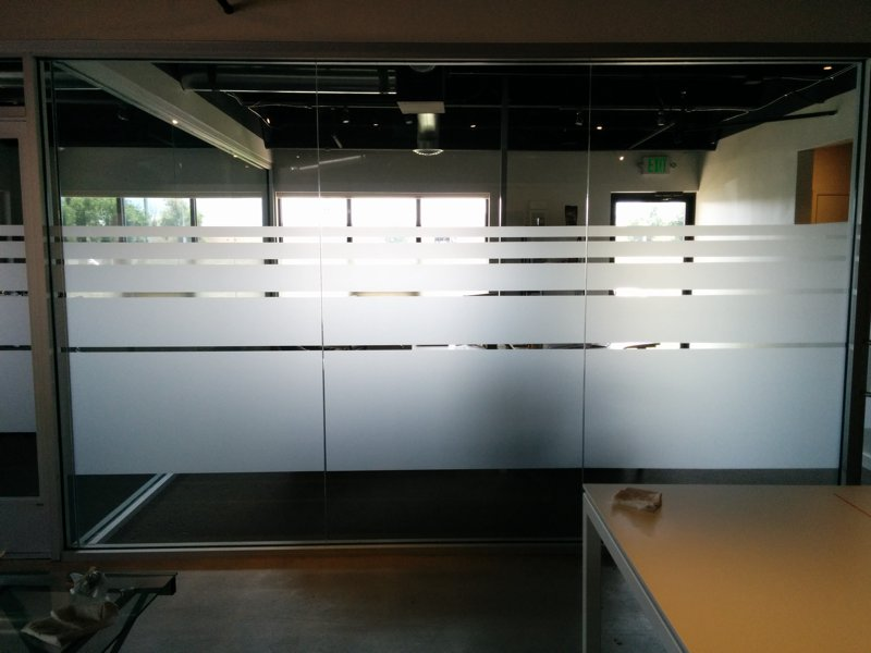 Office PrivacyUtilizing Frosted Vinyl For Window Graphics