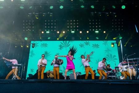 Mon Laferte at the Austin City Limits Festival 10/13/2018. Photo by Roger Ho. Courtesy ACL Fest/C3 Photo