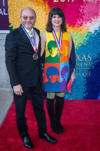 Craig Dykers (Architecture) and Elaine Molinar (Architecture) at the Texas Medal of Arts Awards Red Carpet, Long Center, Austin, TX 2/27/2019. © 2019 Jim Chapin Photography