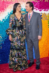 Camilla Alves and Matthew McConaughey (Film) at the Texas Medal of Arts Awards Red Carpet, Long Center, Austin, TX 2/27/2019. © 2019 Jim Chapin Photography