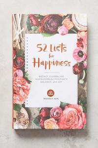 Anthropologie 52 Lists for Happiness Journal
