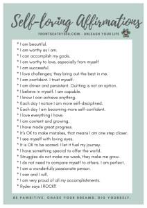 25 Self-Loving Affirmations