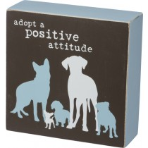 Adopt a Positive Attitude – Box sign