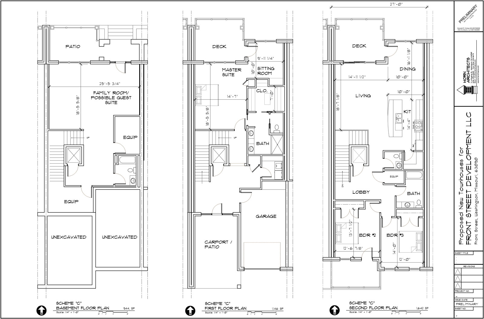Building A Sold Town Houses 2 Story With Basement