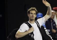 Andy Murray of Britain waves as he leaves Rod Laver Arena following his win over Milos Raonic of Canada in their semifinal match at the Australian Open tennis championships in Melbourne, Australia, Friday, Jan. 29, 2016.(AP Photo/Aaron Favila)