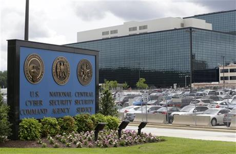 FILE - This June 6, 2013 file photo shows the National Security Administration (NSA) campus in Fort Meade, Md., where the US Cyber Command is located. U.S. officials tell The Associated Press that the military has launched a newly aggressive campaign of cyberattacks against Islamic State militants. It's a targeted effort to erode the group's abilities to use social media and the Internet to recruit fighters and inspire followers. Defense Secretary Ash Carter met with commanders at Fort Meade, Maryland, last month, prodding them to ramp up the anti-Islamic State fight on the cyber front. (AP Photo/Patrick Semansky, File (AP Photo/Patrick Semansky, File)
