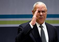Former U.S. Secretary of State Colin Powell salutes the audience as he takes the stage at the Washington Ideas Forum in Washington, September 30, 2015. REUTERS/Jonathan Ernst