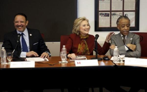 Democratic U.S. presidential candidate Hillary Clinton meets with civil rights leaders at the National Urban League in the Manhattan borough of New York City, February 16, 2016. REUTERS/Mike Segar . SAP is the sponsor of this content. It was independently created by Reuters' editorial staff and funded in part by SAP, which otherwise has no role in this coverage.