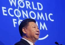 China's President Xi Jinping speaks at the World Economic Forum in Davos, Switzerland, Tuesday, Jan. 17, 2017. (AP Photo/Michel Euler)