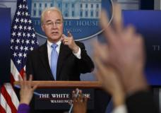 Health and Human Services Secretary Tom Price speaks during the White House press briefing, Tuesday, March 7, 2017, in Washington. (AP Photo/Evan Vucci)