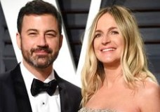 FILE - This Feb. 27, 2017, file photo shows Jimmy Kimmel, left, and his pregnant wife Molly McNearney at the Vanity Fair Oscar Party  in Beverly Hills, Calif. The hole-in-the-heart problem that plagues comedian Jimmy Kimmel's newborn son is one of the most common heart-related birth defects, and it usually can be fixed with surgery. On his show Monday night, the comedian tearfully described the emergency operation needed after his son, William John, was born on April 21. (Photo by Evan Agostini/Invision/AP, File)