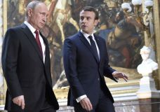 Macron Attacks Russian Media Outlets