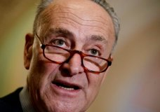 FILE - In this March 14, 2017 file photo, Senate Minority Leader Charles Schumer of N.Y. speaks with reporters at the Capitol in Washington. Senate Democrats asked Republicans Tuesday, May 9, 2017, to drop their bid to repeal President Barack Obama's health care law, offering to help improve the nation's health care system if they did.  (AP Photo/J. Scott Applewhite, File)