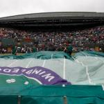 Play On Some Courts At Wimbledon Delayed By Rain