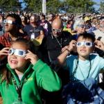 Moon Begins Blotting Out The Sun In Historic U.S. Eclipse