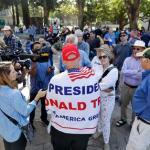 Tense, Peaceful Exchanges Among Berkeley Rallies Protesters