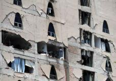 Remains of a damaged building stands after an earthquake in Mexico City, Tuesday, Sept. 19, 2017. A powerful earthquake has jolted Mexico, causing buildings to sway sickeningly in the capital on the anniversary of a 1985 quake that did major damage. (AP Photo/Rebecca Blackwell)