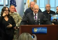 California Gov. Jerry Brown warns that catastrophic wildfires will keep ripping through the state as the climate warms. (Oct. 11)