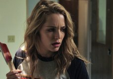 "This image released by Universal Pictures shows Jessica Rothe in a scene from ""Happy Death Day."" (Universal Pictures via AP)"