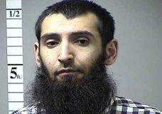 This undated photo provided by the St. Charles County Department of Corrections in St. Charles, Mo., via KMOV shows Sayfullo Saipov. A man in a rented pickup truck mowed down pedestrians and cyclists along a busy bike path near the World Trade Center memorial on Tuesday, Oct. 31, 2017, killing several. Officials who were not authorized to discuss the investigation and spoke on the condition of anonymity identified the attacker as Saipov. (St. Charles County, Mo. Department of Corrections/KMOV via AP)