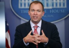 "FILE - In this Thursday, July 20, 2017, file photo, Budget Director Mick Mulvaney gestures as he speaks during the daily press briefing at the White House in Washington. Mulvaney and Treasury Secretary Steven Mnuchin sent mixed signals Sunday, Nov. 19, on the fate of a health care provision in the Senate version of a $1.5 trillion measure to overhaul business and personal income taxes that is expected to be voted on after Thanksgiving. ""I don't think anybody doubts where the White House is on repealing and replacing Obamacare. We absolutely want to do it,"" Mulvaney said. (AP Photo/Pablo Martinez Monsivais, File)"