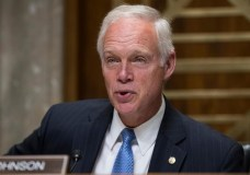 In this Aug. 1, 2017 photo, Sen. Ron Johnson, R-Wis., chairs a Senate Foreign Relations subcommittee hearing on Steve King, a prominent GOP insider from Wisconsin, nominated to be ambassador to the Czech Republic, on Capitol Hill Washington. (AP Photo/J. Scott Applewhite)
