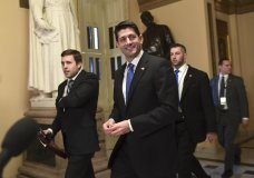House Speaker Paul Ryan of Wis., walks to the House floor on Capitol Hill in Washington, Tuesday, Dec. 19, 2017. Republicans are ready to ram a $1.5 trillion tax package through Congress, giving President Donald Trump the legislative win he desperately wants. (AP Photo/Susan Walsh)