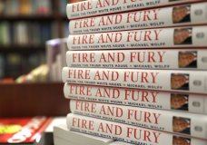 "Copies of the book ""Fire and Fury: Inside the Trump White House"" by Michael Wolff are displayed at Barbara's Books Store, Friday, Jan. 5, 2018, in Chicago. (AP Photo/Charles Rex Arbogast)"