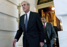 FILE - In this June 21, 2017, file photo, former FBI Director Robert Mueller, the special counsel probing Russian interference in the 2016 election, departs Capitol Hill following a closed door meeting in Washington. (AP Photo/Andrew Harnik, File)